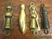 4 Antique or Vintage Solid Brass Keyhole Covers