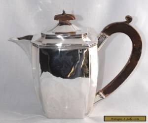 445g 1931 Art Deco Sterling Silver Coffee Pot / Hot Water Pot J PARKES & CO for Sale