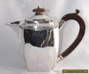 445g 1931 Art Deco Sterling Silver Coffee Pot / Hot Water Pot J PARKES & CO for Sale