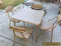 Vintage COSCO Folding Chairs & Card Table Stylaire Hoop Mid Century Modern MCM
