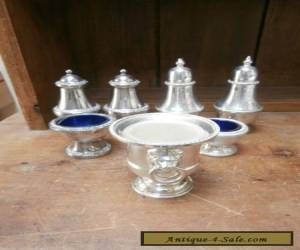 Mixed lot of silver plate cruets for Sale