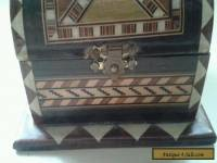 antique/ vintage Tunbridge inlaid trinket box chest
