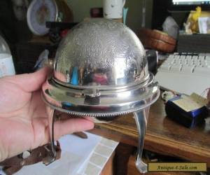 Vintage Silver Plated Globe Butter Dish, beautiful quality. for Sale