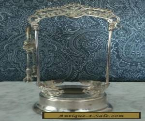 Vintage Antique silver plated serving dish with thongs  for Sale
