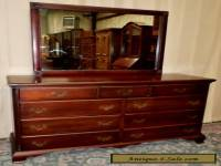HUNGERFORD SOLID MAHOGANY DOUBLE DRESSER 9 Drawer Chest With Mirror VINTAGE