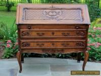 Antique French Oak Louis XV Style Fall Front Writing Desk Bureau Secretary