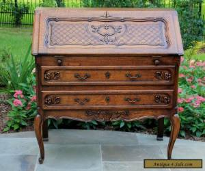Antique French Oak Louis XV Style Fall Front Writing Desk Bureau Secretary  for Sale