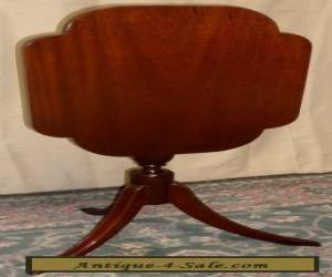BIGGS MAHOGANY TABLE TILT FLIP TOP Center Spindle Stand VINTAGE 2of2 for Sale