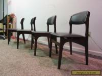 SET OF 4 MID CENTURY DANISH MODERN  WALNUT VOLTHER STYLE DINING CHAIRS