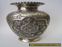 Exceptional Fine Quality Antique Persian Islamic Solid Silver Vase