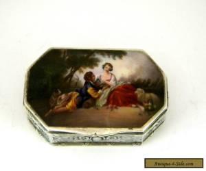ANTIQUE AUSTRIAN SOLID SILVER & ENAMEL BOX c. 1910 for Sale