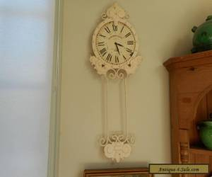 Antique style vintage shabby chic wall clock for Sale