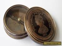 Victorian Pocket Compass Vintage Antique Finish Brass Pocket Size 1875 Best Gift