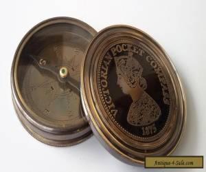 Victorian Pocket Compass Vintage Antique Finish Brass Pocket Size 1875 Best Gift for Sale