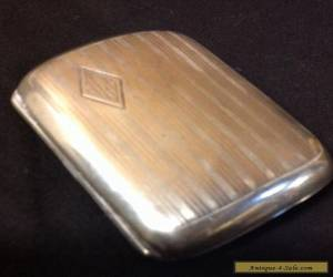 Vintage STERLING SILVER Antique Cigarette Case/Money Clip  Art Deco 1920s Jazz for Sale