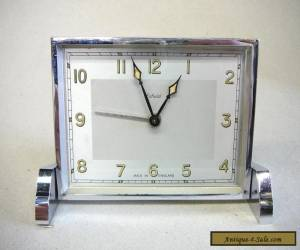 Lovely Art Deco Enfield Chrome Clock - Made in England for Sale