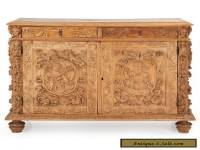 Continental Carved Antique Baroque Beechwood Cabinet Cupboard, 19th Century