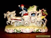 Vintage Porcelain Carriage & Horses Figurine - Germany? Dresden? Antique?