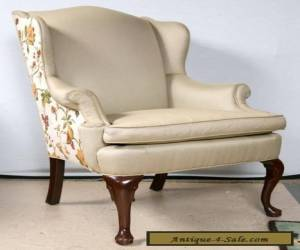 Pair of Louis XV Style Wing Back Bergere Chairs for Sale