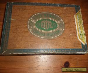 antique wooden cigar box retro for Sale