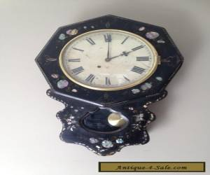 Antique wall clock - Mother of pearl- 19th century for Sale