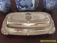 Butter Dish Vintage Silver Plate Pilgrim 73 1940s Antique Glass