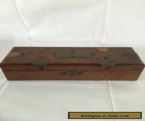 Victorian oak Wooden Glove Box. for Sale