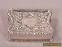 Unusual Antique Sterling Silver Gilt Interior Vinaigrette