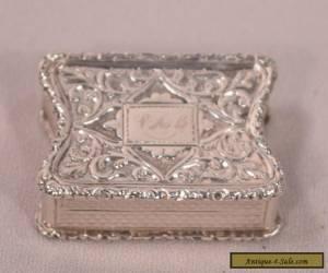 Unusual Antique Sterling Silver Gilt Interior Vinaigrette for Sale