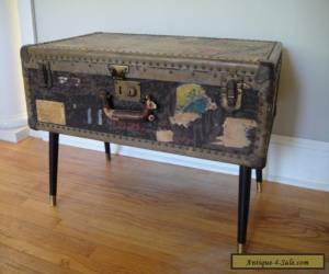 1870's Steamer Trunk Antique Trunk Stagecoach Trunk Vintage Chest Coffee Table for Sale