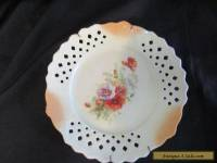 Antique china wall/ Cabinet Plate with hanger ,pieced edging ,european 1880.s