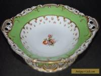 Antique George Jones Crescent China Footed Comport 23cm #18157 - Hand Painted