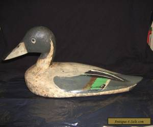 VINTAGE ANTIQUE HAND CARVED PAINTED WOODEN DECOY DUCK FIGURE for Sale