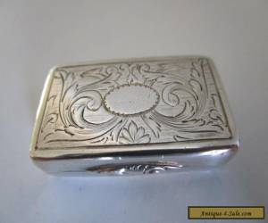 Antique Sterling Silver Vinaigrette..Hallmarked Birmingham 1836 ?.. for Sale