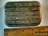 Vintage antique German silver lidded glass dresser vanity box Edwardian