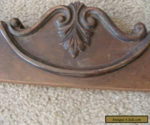 Antique Wood  Dresser Harp Base Crown Victorian Parts Fancy Carved Walnut Veneer for Sale