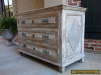 Large Antique French Neoclassical Painted Chest of Drawers Cabinet Table Wood