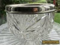 Vintage Antique Solid Silver Rimmed Crystal Bowl Hallmarks