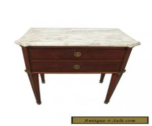 Antique French Louis XVI Style Marble Top Side Table - 11299 for Sale