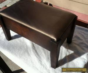Antique Footstool Walnut Wood Mission Style Early 1900's for Sale