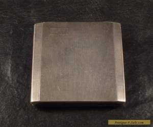 A BROSS SECRET OPENING ENGLISH BIRMINGHAM STERLING SILVER ANTIQUE CIGARETTE CASE for Sale