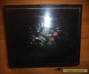 antique  wooden box with  hand painted decoration  for Sale