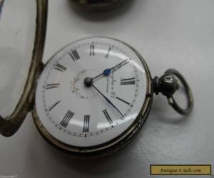 Antique Douglas & Co Decorative Silver Fob Watch c-1880's No Reserve for Sale
