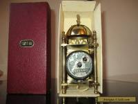 VINTAGE SMITHS BRASS LANTERN MANTLE CLOCK AND ORIGINAL BOX FOR REPAIR