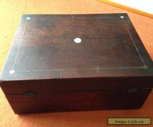 Antique Victorian Mahogany And Mother Of Pearl Inlaid Boxes for Sale