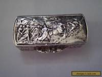 """A Beautiful Must See"" 19th Century Antique Solid SterlingSilver Snuffbox"