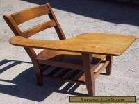 Antique School Desk Chair wood tiger oak Mission Style Americana