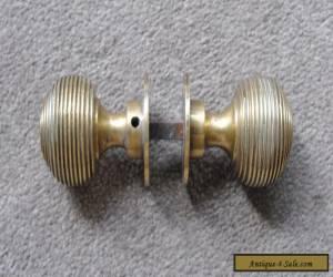 VINTAGE VICTORIAN BRASS DOOR KNOBS   for Sale