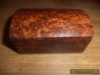 burr  wooden box with  hinged lid