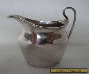 ANTIQUE 1933 GEORGIAN STYLE SOLID / STERLING SILVER JUG for Sale